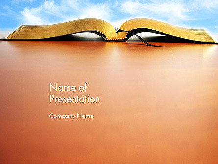 Open Book PowerPoint Template