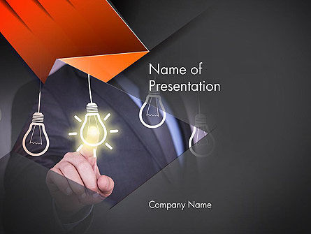 Business Concepts: Plantilla de PowerPoint - elegir una idea #14110