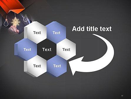 Choosing an Idea PowerPoint Template Slide 11