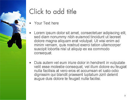 Jump Into the Sky PowerPoint Template, Slide 3, 14112, People — PoweredTemplate.com