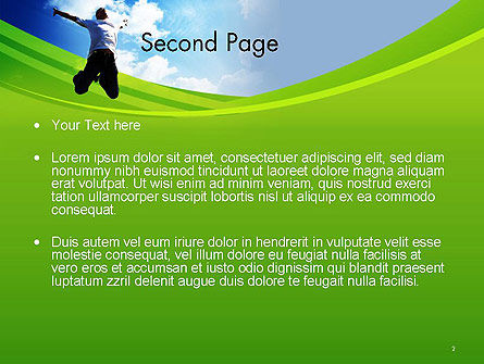 Jump Into the Sky PowerPoint Template, Slide 2, 14112, People — PoweredTemplate.com