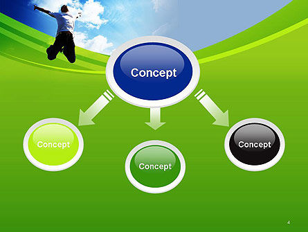 Jump Into the Sky PowerPoint Template, Slide 4, 14112, People — PoweredTemplate.com