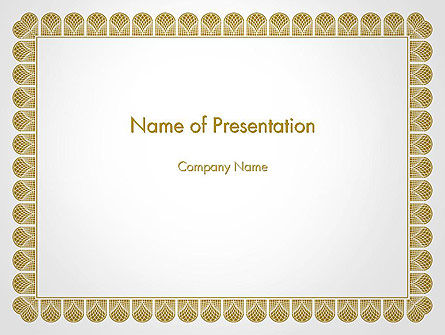 Certificate Frame PowerPoint Template, 14115, Abstract/Textures — PoweredTemplate.com