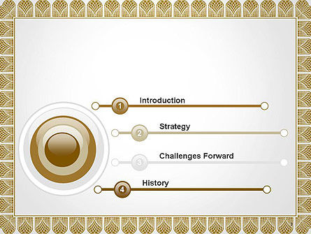 Certificate Frame PowerPoint Template, Slide 3, 14115, Abstract/Textures — PoweredTemplate.com