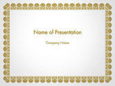 Abstract/Textures: Certificate Frame PowerPoint Template #14115