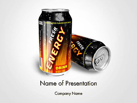 Energy Drink PowerPoint Template, 14116, Food & Beverage — PoweredTemplate.com
