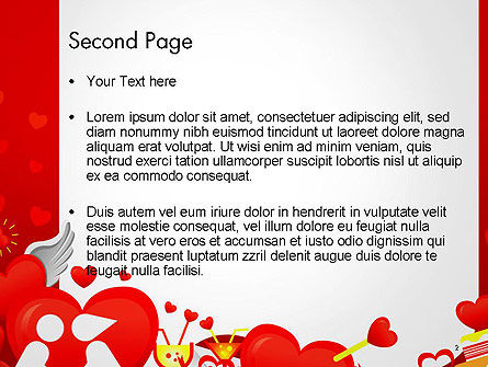 Love Border Frame PowerPoint Template Slide 2