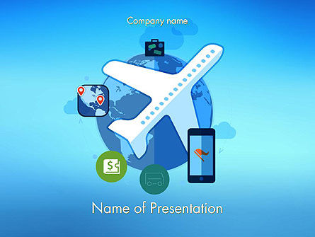 Modern Online Travel PowerPoint Template, 14118, Careers/Industry — PoweredTemplate.com