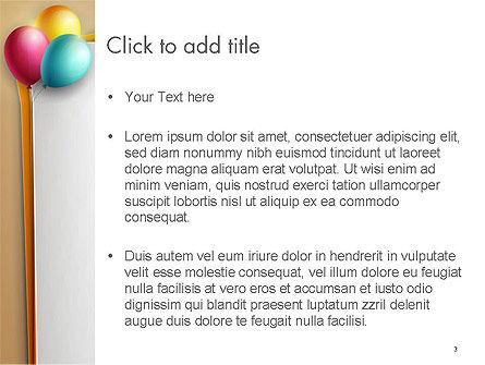 Happy Birthday Balloons PowerPoint Template, Slide 3, 14119, Food & Beverage — PoweredTemplate.com