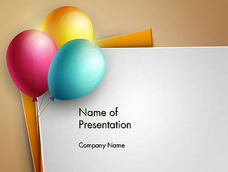 Happy Birthday Balloons PowerPoint Template