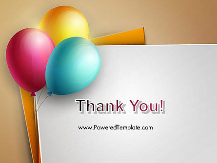 Happy Birthday Balloons PowerPoint Template Slide 20
