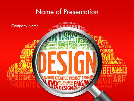 Careers/Industry: Search for Design PowerPoint Template #14121