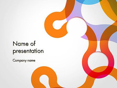 Path and Circles Abstract PowerPoint Template