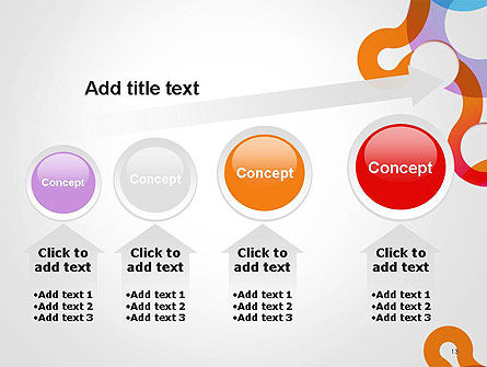 Path and Circles Abstract PowerPoint Template Slide 13