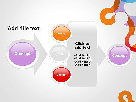 Path and Circles Abstract PowerPoint Template Slide 17
