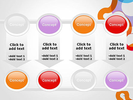 Path and Circles Abstract PowerPoint Template Slide 18
