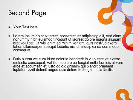 Path and Circles Abstract PowerPoint Template Slide 2
