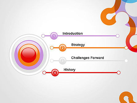 Path and Circles Abstract PowerPoint Template Slide 3