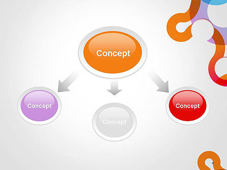 Path and Circles Abstract PowerPoint Template Slide 4