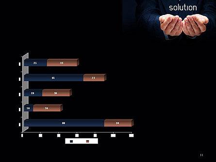 Businessman Holding Solution PowerPoint Template Slide 11