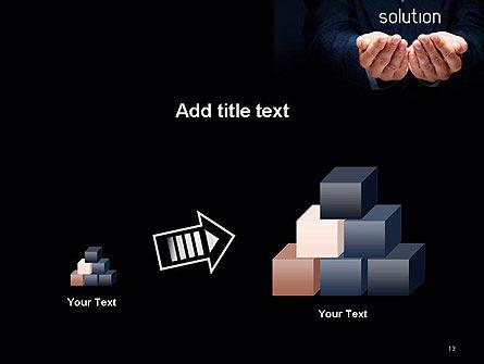 Businessman Holding Solution PowerPoint Template Slide 13