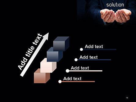 Businessman Holding Solution PowerPoint Template Slide 14