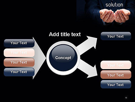 Businessman Holding Solution PowerPoint Template Slide 15