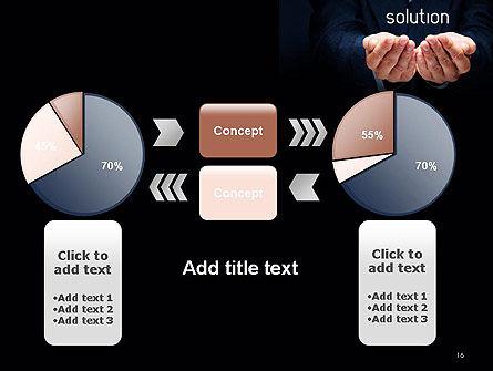 Businessman Holding Solution PowerPoint Template Slide 16
