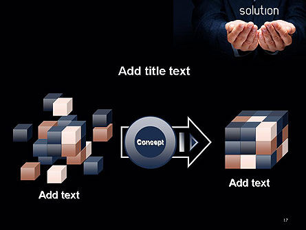 Businessman Holding Solution PowerPoint Template Slide 17