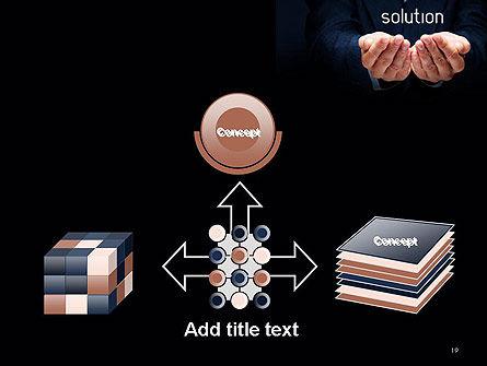 Businessman Holding Solution PowerPoint Template Slide 19