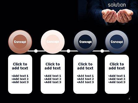 Businessman Holding Solution PowerPoint Template Slide 5