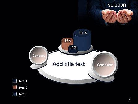 Businessman Holding Solution PowerPoint Template Slide 6