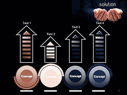 Businessman Holding Solution PowerPoint Template Slide 7