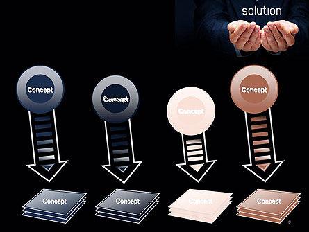 Businessman Holding Solution PowerPoint Template Slide 8