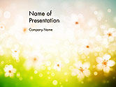 Nature & Environment: Plantilla de PowerPoint - hierba y flores #14126
