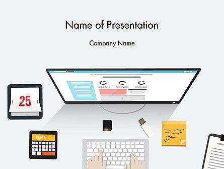 Careers/Industry: Creating a Web Page PowerPoint Template #14127