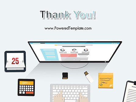 Creating a Web Page PowerPoint Template Slide 20