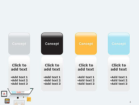 Creating a Web Page PowerPoint Template Slide 5