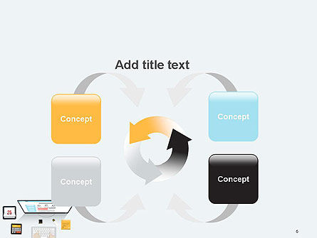 Creating a Web Page PowerPoint Template Slide 6