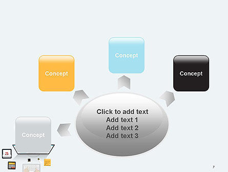 Creating a Web Page PowerPoint Template Slide 7