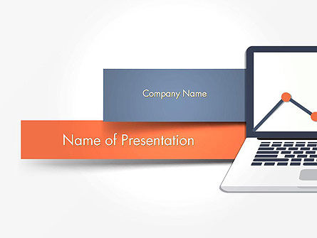 Business: Notebook with Chart PowerPoint Template #14131