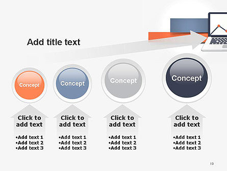 Notebook with Chart PowerPoint Template Slide 13