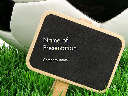 Soccer School PowerPoint Template, 14132, Sports — PoweredTemplate.com