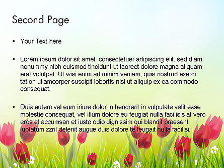 Flower Field PowerPoint Template, Slide 2, 14133, Nature & Environment — PoweredTemplate.com