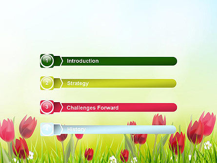 Flower Field PowerPoint Template, Slide 3, 14133, Nature & Environment — PoweredTemplate.com