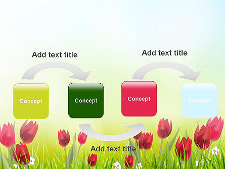Flower Field PowerPoint Template, Slide 4, 14133, Nature & Environment — PoweredTemplate.com