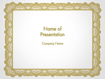 Business: Blank Certificate PowerPoint Template #14135