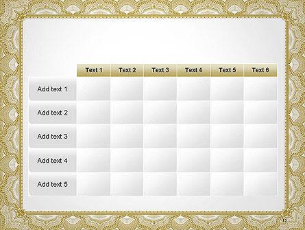 Blank Certificate PowerPoint Template Slide 15