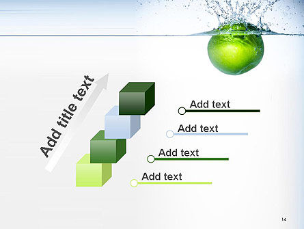 Green Apple Falling Into Water PowerPoint Template Slide 14