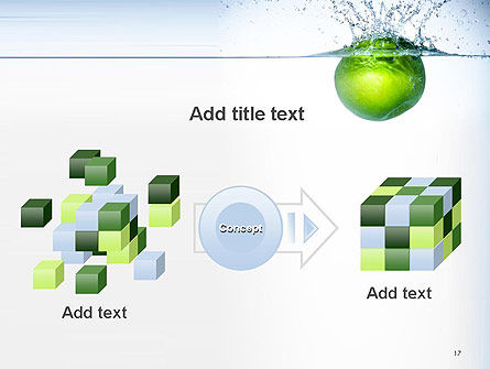 Green Apple Falling Into Water PowerPoint Template Slide 17